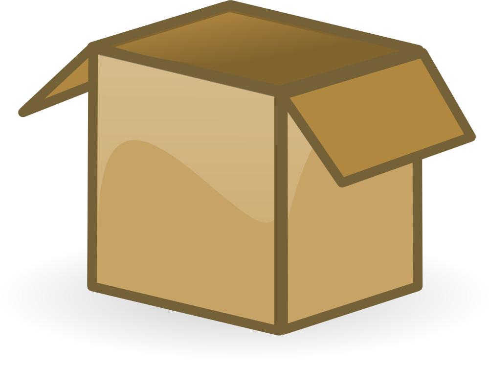 Full Cardboard Box Clipart Fr - Cardboard Box Clipart