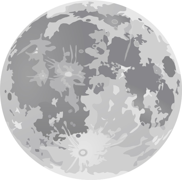 Full Moon clip art Free vector .