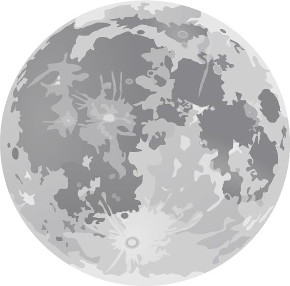 Full Moon clip art Free vector .