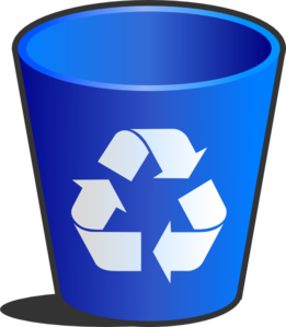 Full Recycling Bin Clipart #1