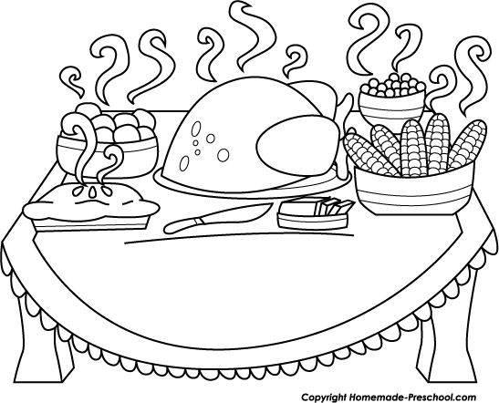 Fun And Free Clipart - Black And White Thanksgiving Clipart