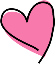 Funky Pink heart - Love Heart Clipart