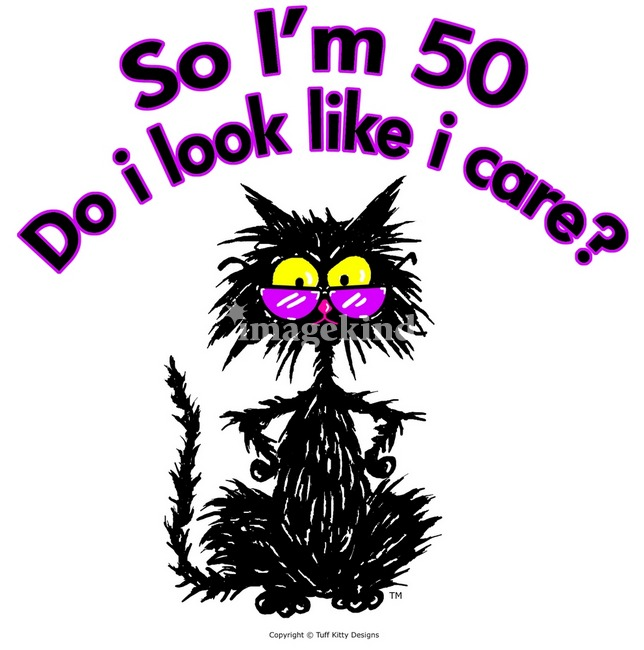 Funny 50th Birthday Clipart #1