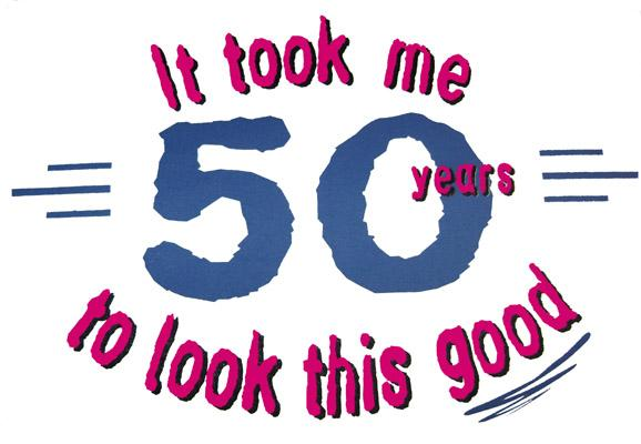 Funny 50th Birthday Clipart