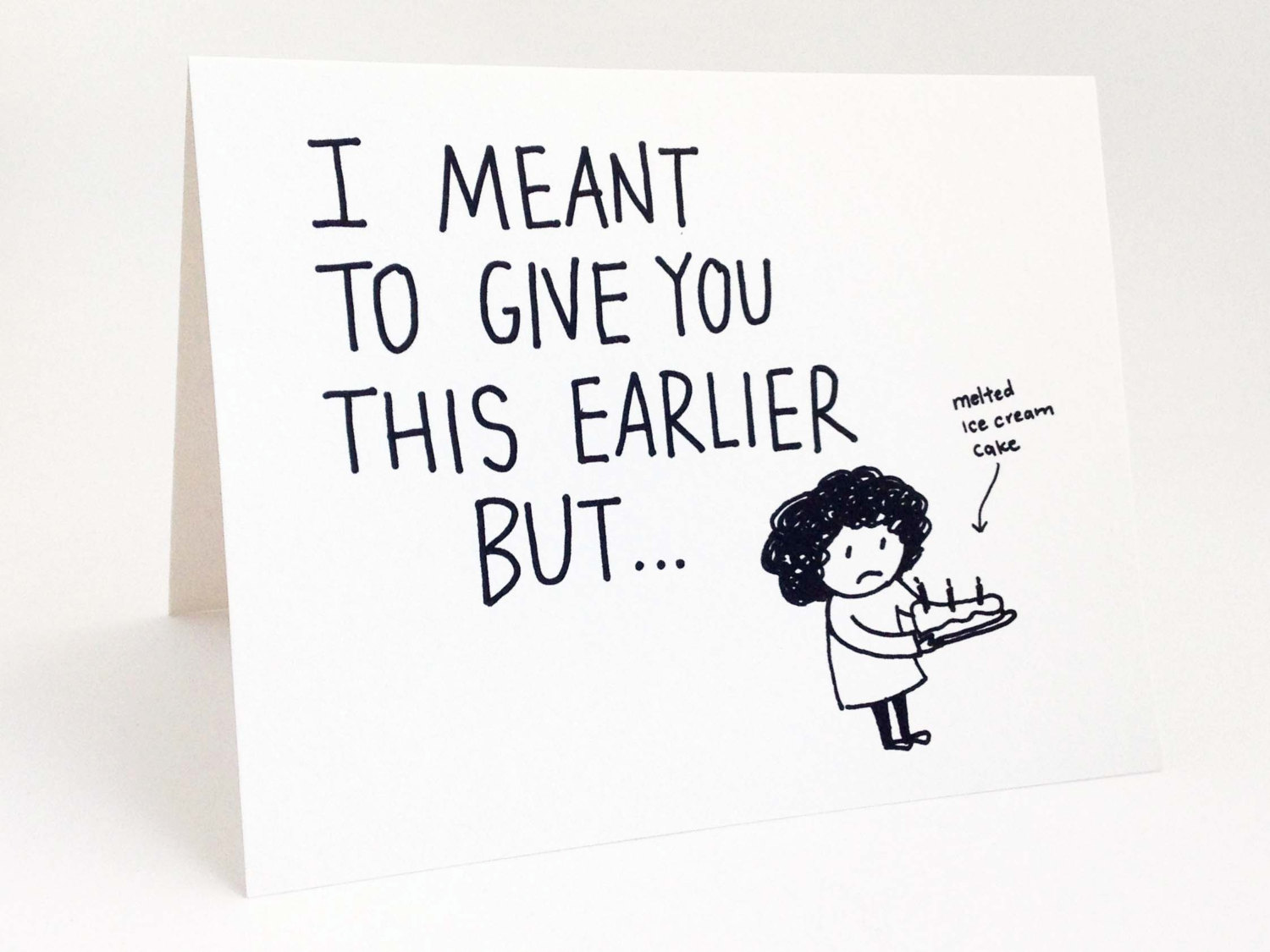 Funny Belated Birthday Card Humorous Late By Euclidstreetshop