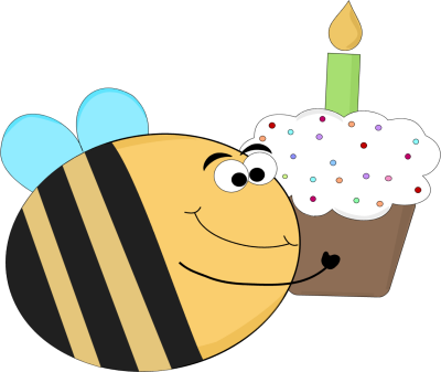 Funny Birthday Bee Clip Art Image A Funny Birthday Bee With Big Eyes