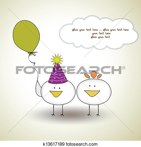 funny birthday party greeting .