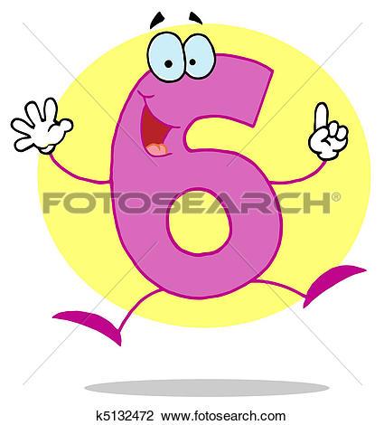 Funny Cartoon Numbers-6-Funny Cartoon Numbers-6-19