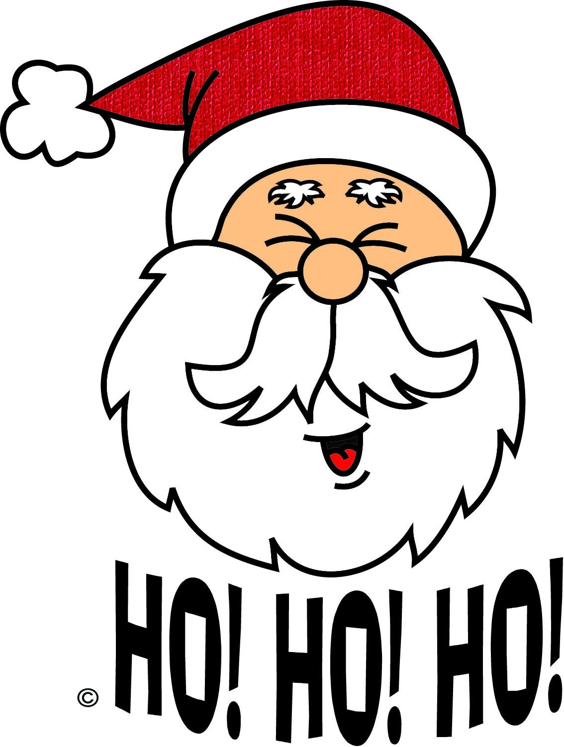 Funny clip art christmas .
