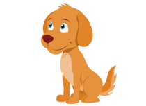 Funny dog up on hind legs ton - Clipart Of A Dog