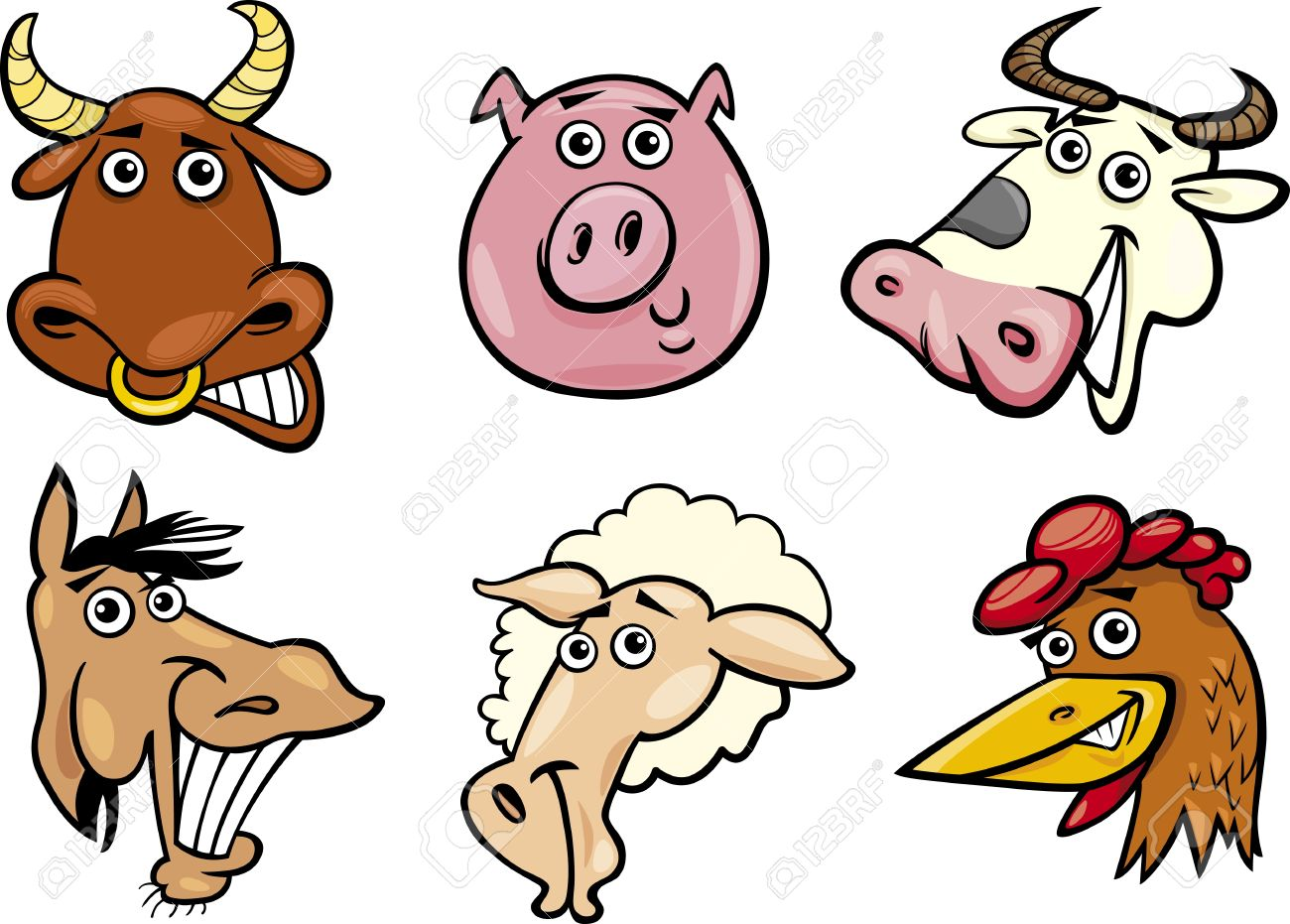 Funny Farm Animals Clipart-Funny Farm Animals Clipart-16