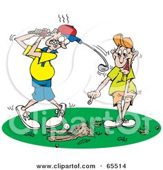 Funny Golf Clip Art Free | Royalty-Free (RF) Clipart Illustration of a