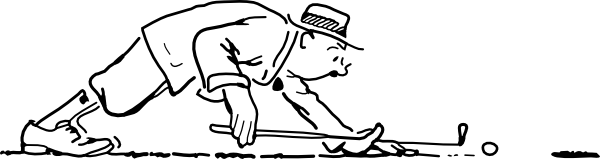 Funny Golfer Clip Art At Clker Com Vector Clip Art Online Royalty