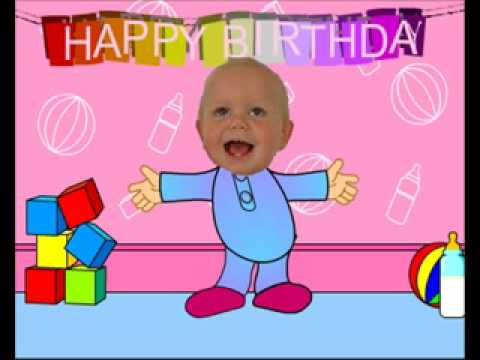 Funny Happy Birthday Video Card - Dancing Baby