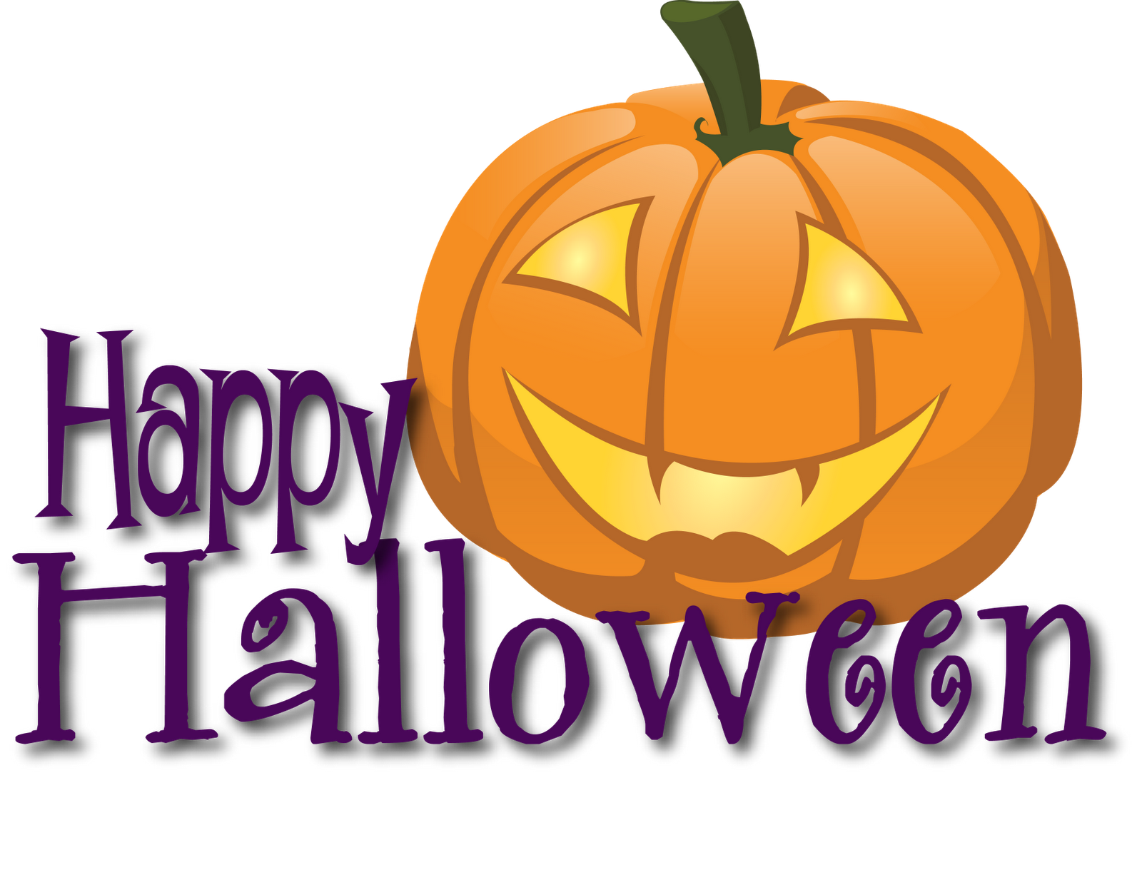 Funny Happy Halloween Clipart .