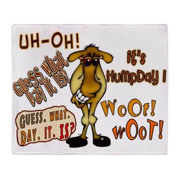 Funny Hump Day Clip Art | Awesome Humpda-Funny Hump Day Clip Art | Awesome Humpday Camel Throw blanket with cute camel on each-5