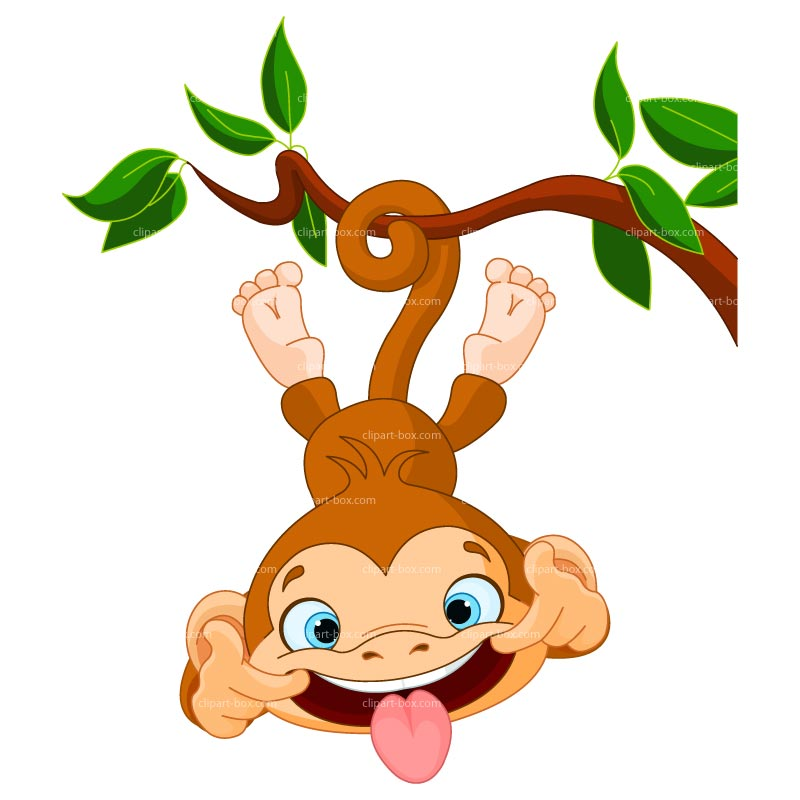 Funny monkey clip art free clipart images