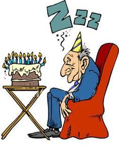 Funny old man birthday clipart .