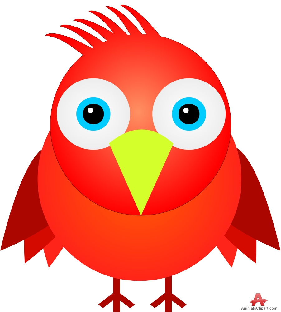 ... Funny Red Bird | Free Clipart Design Download ...