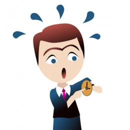 Funny Stressful Clip Art - Time Management Clipart