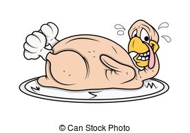 Funny Turkey Chicken - Cartoon Funny Turkey Bird Chicken in.