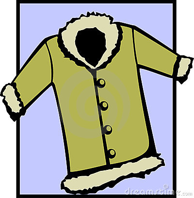 Fur Coat Or Winter Jacket Vector File Available Stock Images Image