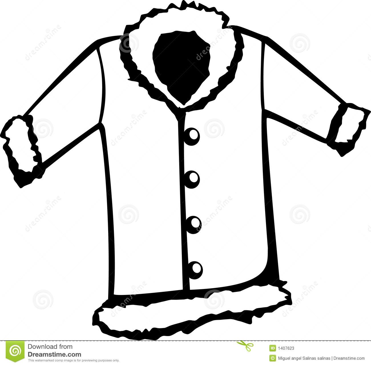 Fur Coat Vector Illustration Stock Photo-Fur Coat Vector Illustration Stock Photos Image 1407623-8