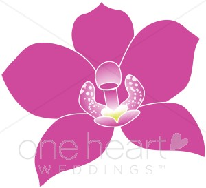 Fuschia Tropical Orchid Clipart