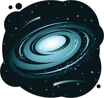 Galaxy vector art illustration