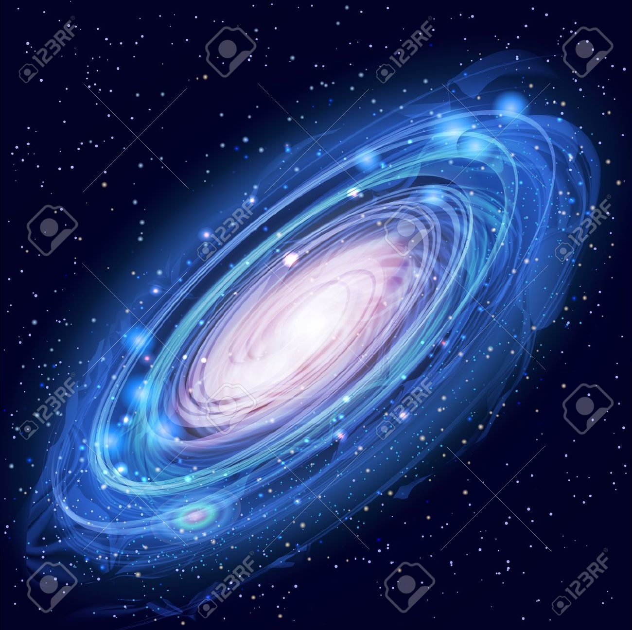 Galaxy with Stars Stock .