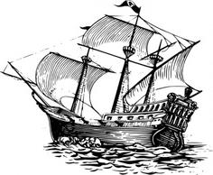 Galleon Sail Ship clip art - Sailing Ship Clip Art