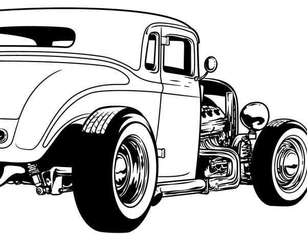 Gallery For u0026gt; Hot Rod Cartoon Clipart | DAP of DRAWINGS of CARS u0026amp; RODS (2) | Pinterest | Cartoon, 32 ford and Coloring pages