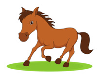 Galloping Horse Clipart Size: 90 Kb