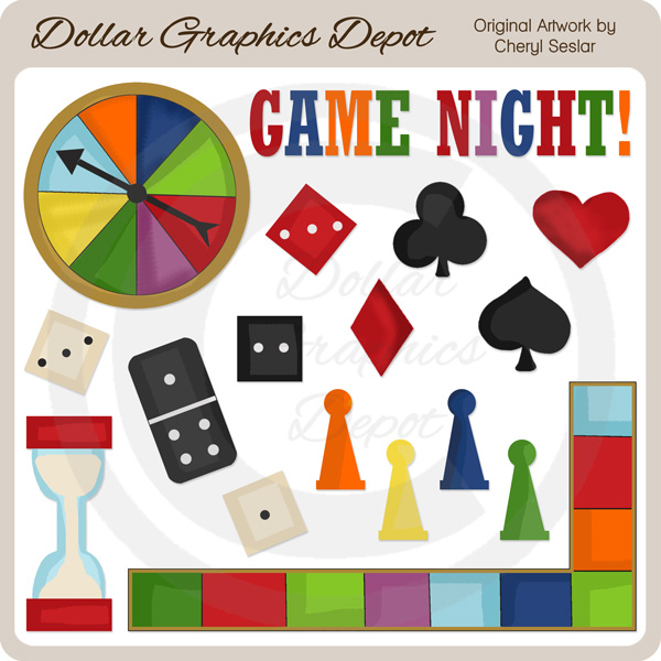 Game Night - Clip Art - Game Night Clip Art