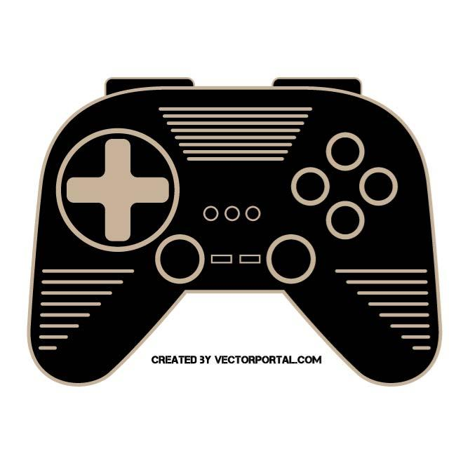 GAMEPAD VECTOR CLIP ART