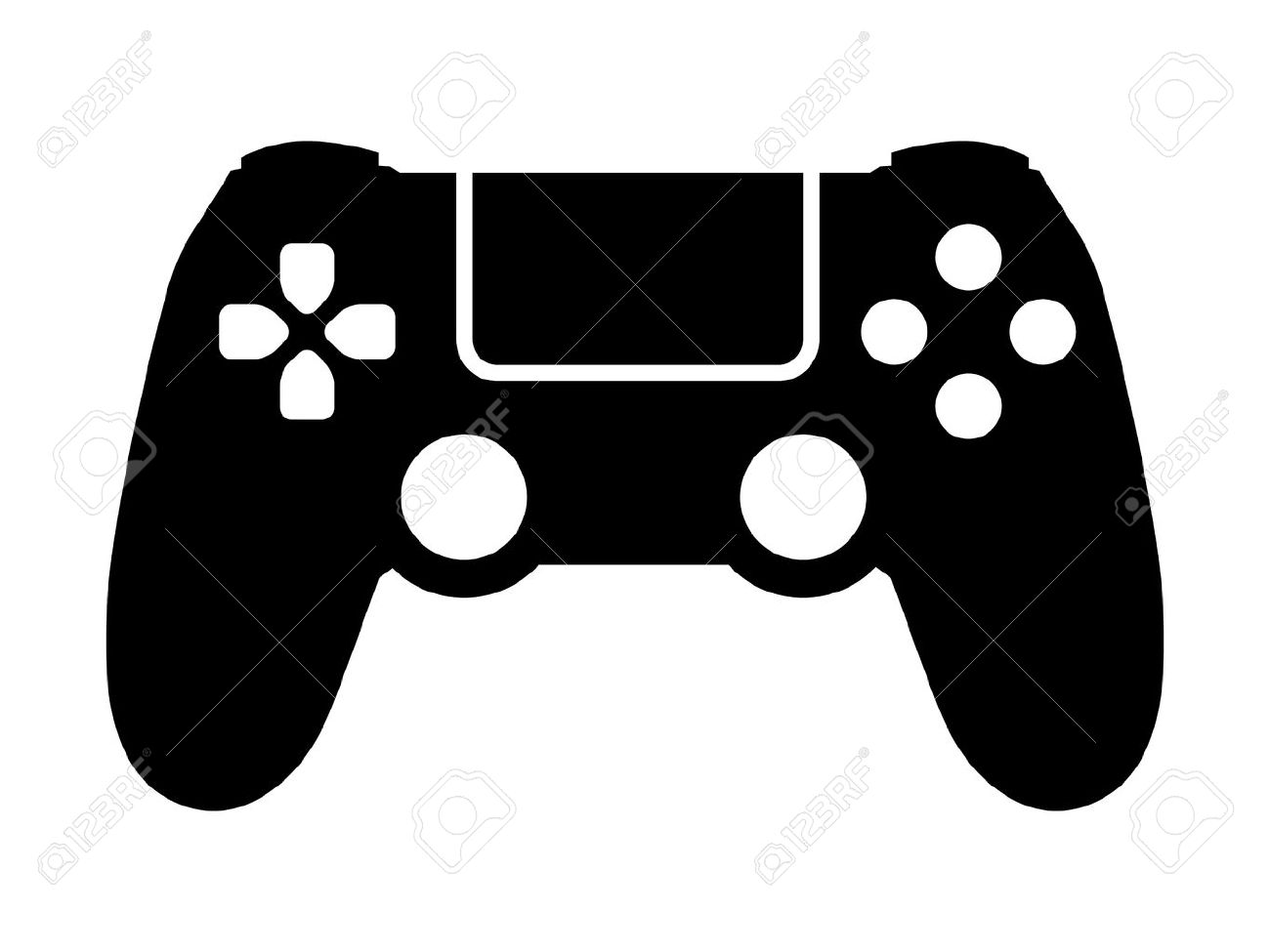 Vector - Video game controller / gamepad flat icon for apps and websites