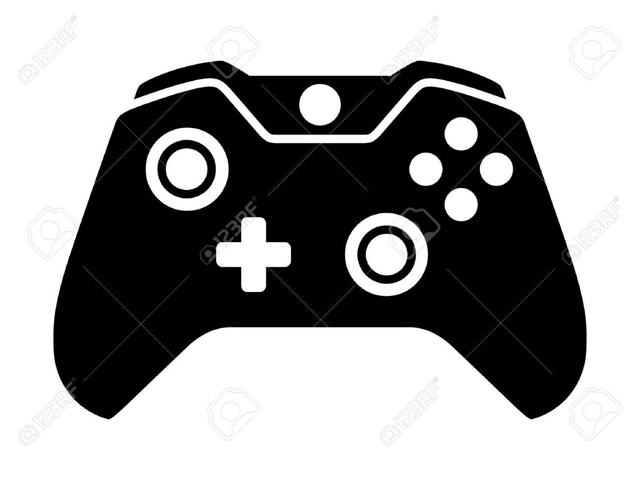 Vector - Video game controller or gamepad flat icon for apps and websites