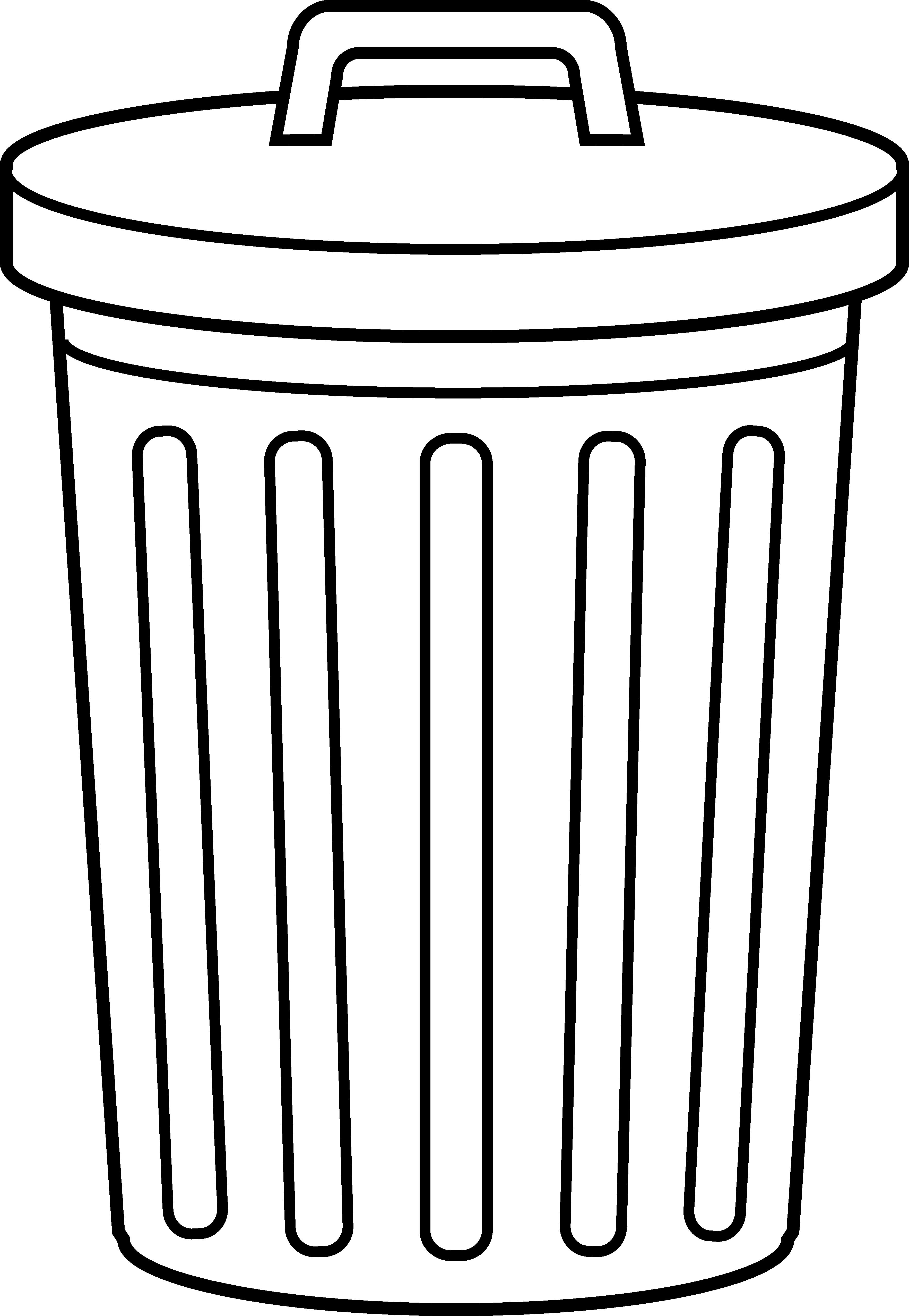 Garbage Can Line Art - Free .-Garbage Can Line Art - Free .-7