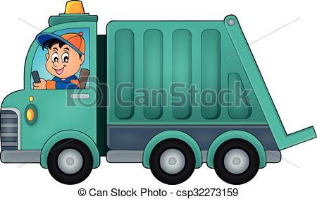 Garbage collection truck .-Garbage collection truck .-18