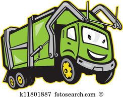 Garbage Rubbish Truck Cartoon-Garbage Rubbish Truck Cartoon-13