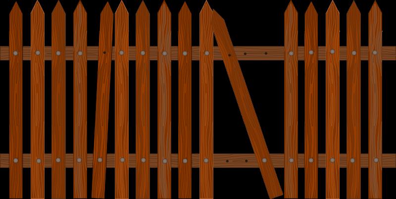 Garden Fence Clipart This Nice Broken Fence Clip