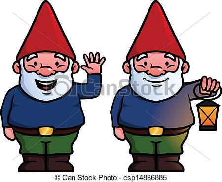 ... Garden Gnomes - Two Garden Gnomes, O-... Garden gnomes - Two garden gnomes, one waving and one.-9