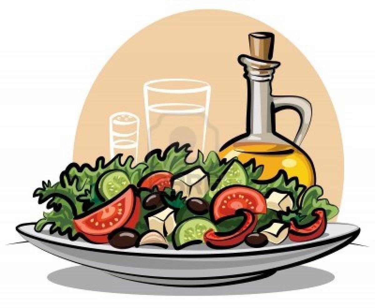 Garden Salad Clipart Salad At A Formal Dinner