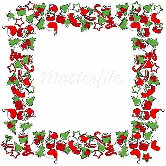 garland clipart - Christmas Frame Clipart