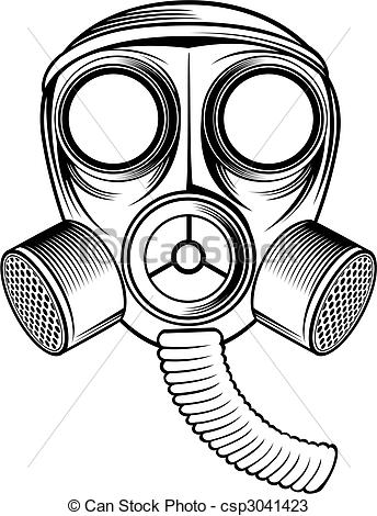 ... gas mask - black and white gas mask.