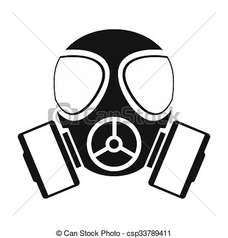 Gas mask simple icon - csp33789411-Gas mask simple icon - csp33789411-6