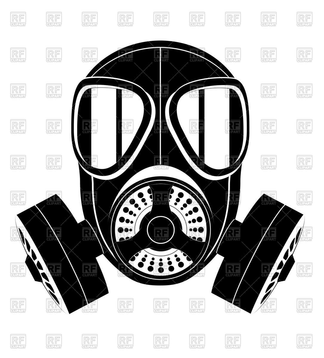 Silhouette of gas mask icon Royalty Free-Silhouette of gas mask icon Royalty Free Vector Clip Art-5