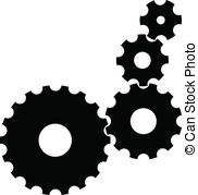 . ClipartLook.com Vector Gears - Isolated Vector Gears on white background.