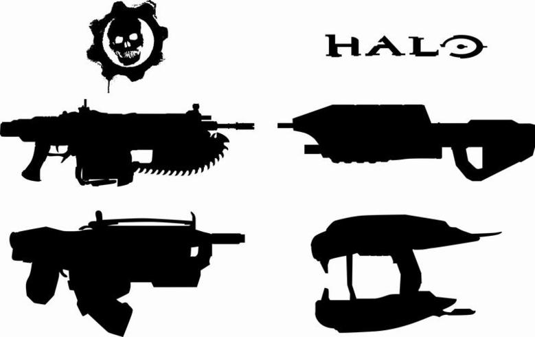 Halo, Gears Weapons - Gears Of War Clipart