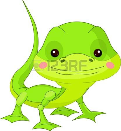 gecko: Fun zoo Illustration of cute Lizard Illustration